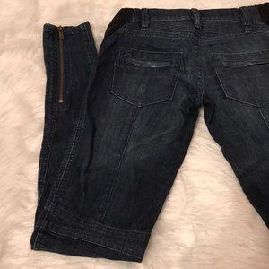 Bcbcmaxazria super skinny zip leg Motor jeans